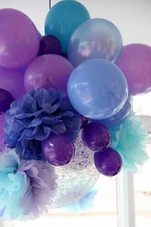 Arte Color Decoración Con Globos Esferas Y Flores De Papel