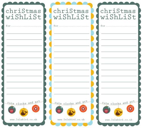 My Owl Barn Printable Christmas Wishlist + Gift Tags