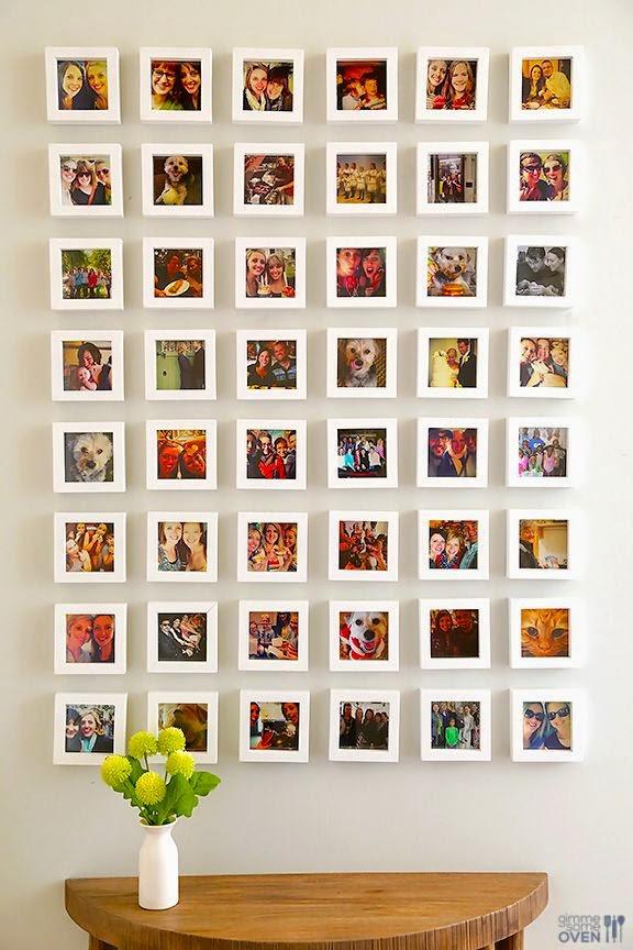 9 ideas para crear un mural de fotos en el saln
