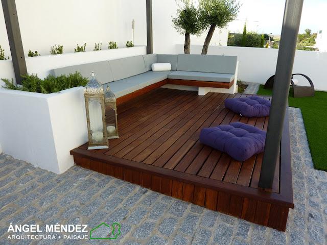 tarimas madera ipe, jardines decoración, jardines complementos