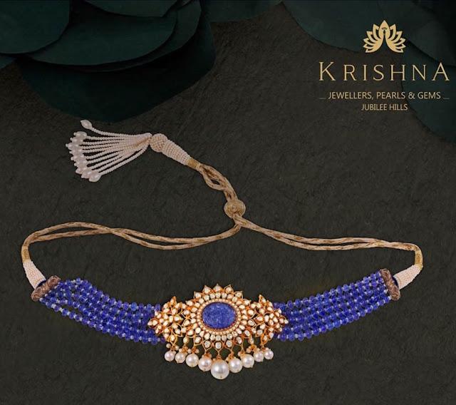 Multi Beads Chokers from Krishna Jewellers.