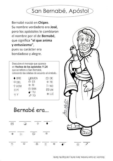 San Bernabé, apóstol (reseña y juego)