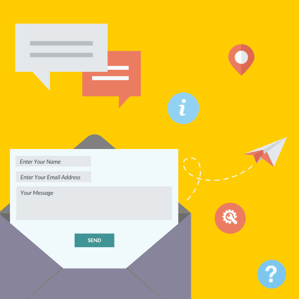 a good website contact form is simple and clear