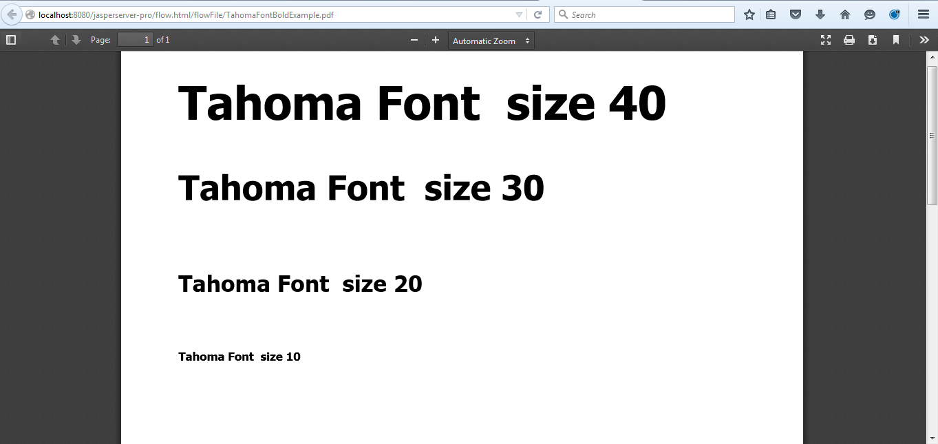 Tip : Tahoma bold font work around when exporting report