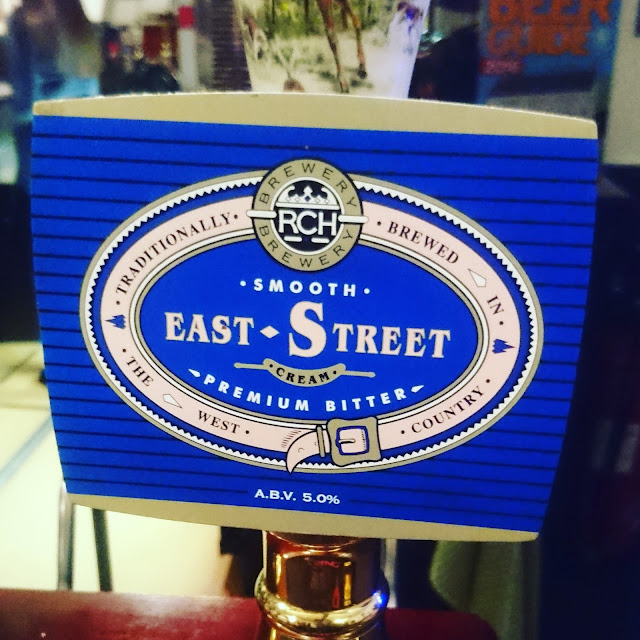 Somerset Craft Beer Review: East Street Cream from RCH Brewery real ale pump clip