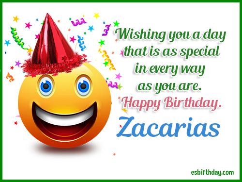 Zacarias Happy birthday