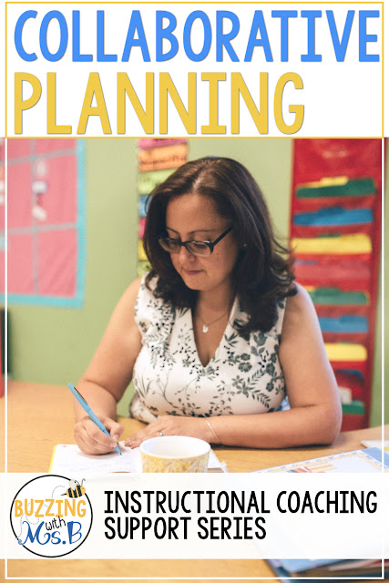 One type of professional learning community is a planning PLC. During a planning PLC, teachers plan collaboratively for an upcoming lesson, unit, or time frame. This post includes steps for instructional coaches to take to facilitate planning before, during, and after the planning session! Learn tips and ideas about why agendas matter, how to get started right away with preplanning, and why you start with the standards. Stop spinning your wheels during planning time and get something accomplished!