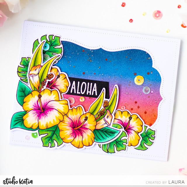 Flower Spectrum Noir Markers Coloring Video Tutorial