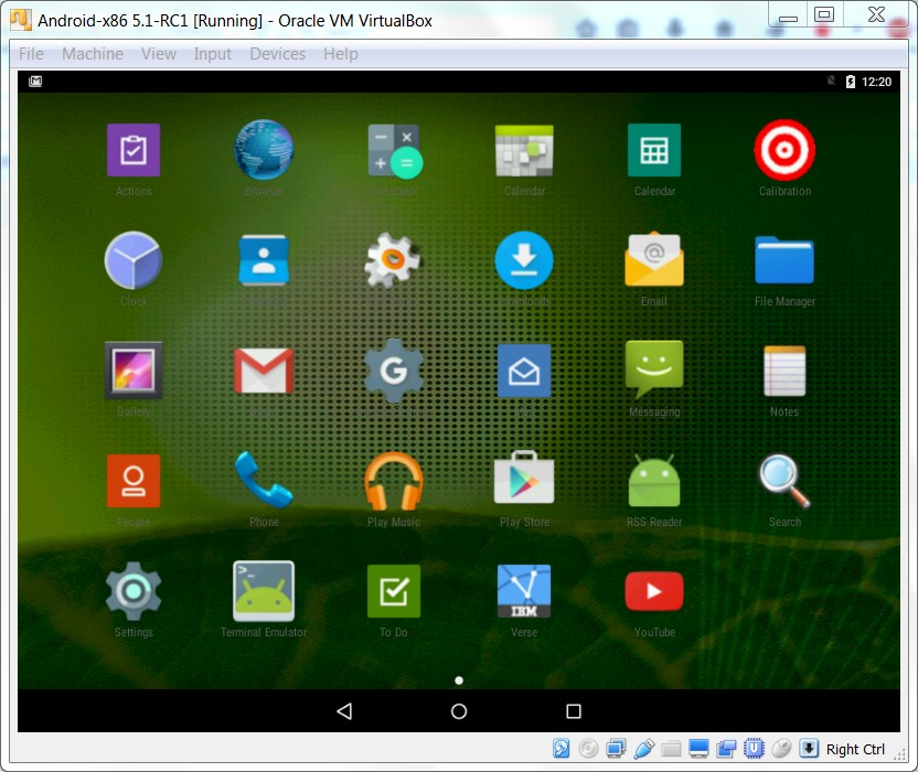 Cognitive Buffet: Android-x86 and VirtualBox - A Potent Combination