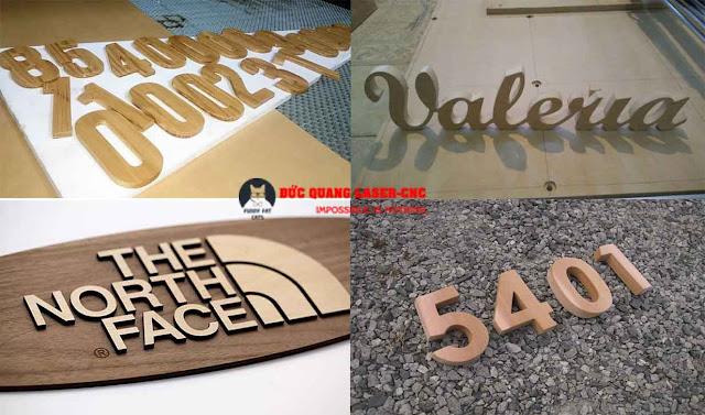 cắt chữ cnc trên gỗ
