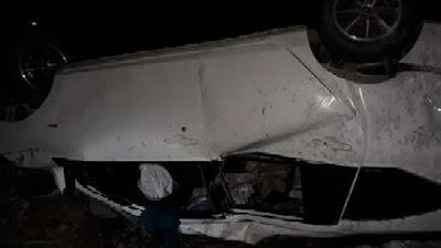 Relawan IAIN Bone Alami Kecelakaan Mobil Terbalik Saat Bawa Bantuan ke Masamba