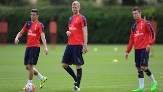 Photos: Arsenal Players Train Ahead of Community Shield Clash.