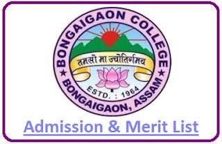 Bongaigaon College Merit List
