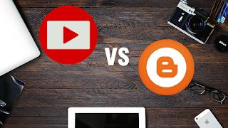 Pilih Youtube atau Blog