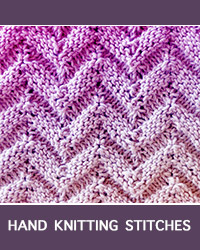 Chevron Welt Textured Pattern. Difficulty level: Advanced knitter.