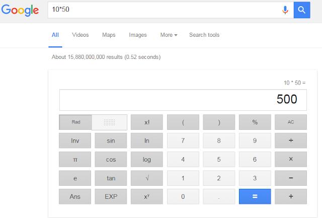 استخدام متصفح جوجل كـآلة حاسبة