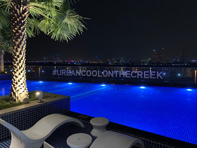Swimming pool, which is referred to as The Splash #urbancoolonthecreek