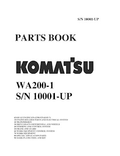 Part Book wheel loader komatsu WA200-1