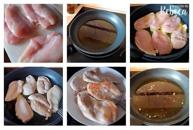 Receta de pollo en escabeche: preparación de las pechugas