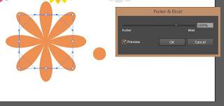 Pucker and Bloat Adobe Illustrator