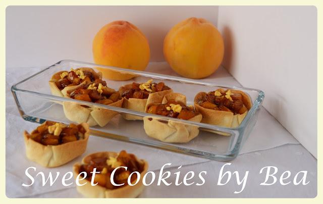 peach-tarts, tartaletas-de-melocoton