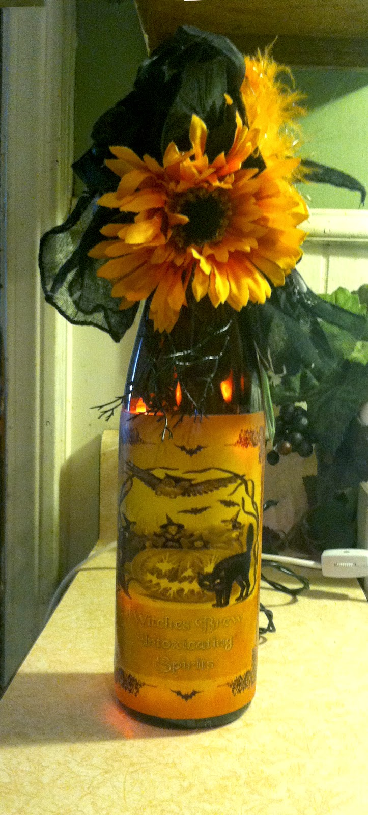 halloween wine bottle craft with directions