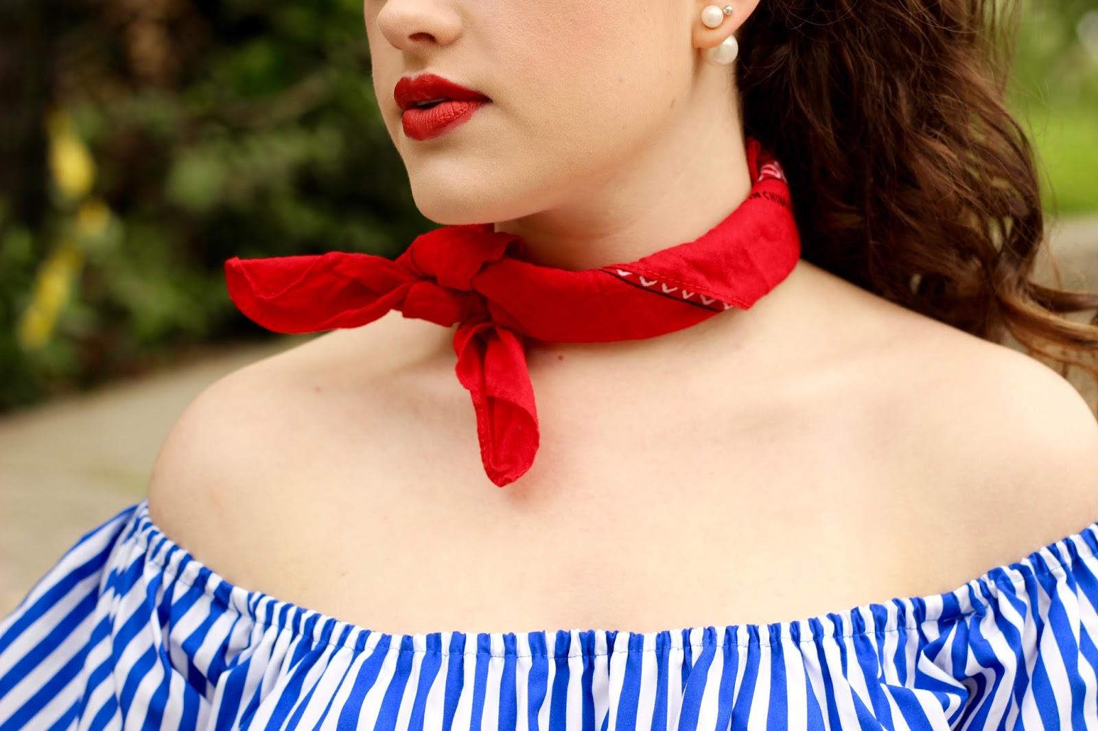 neck bandana street style