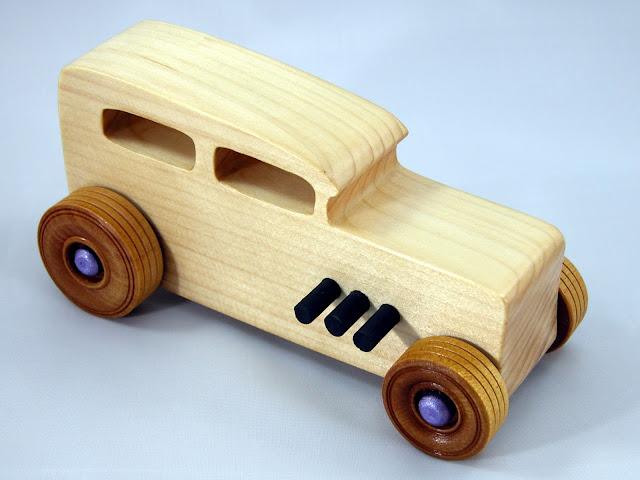 Handmade Wood Toy Car Hot Rod Freaky Ford 32 Sedan