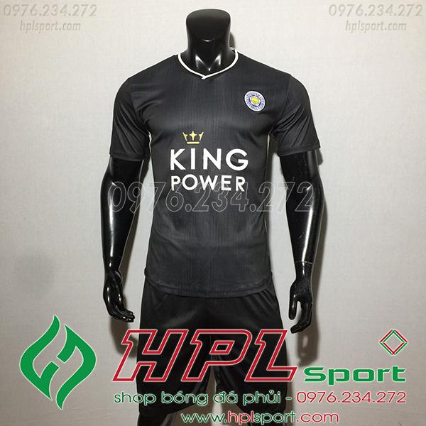 Áo câu lạc bộ Leicester City màu đen 2020