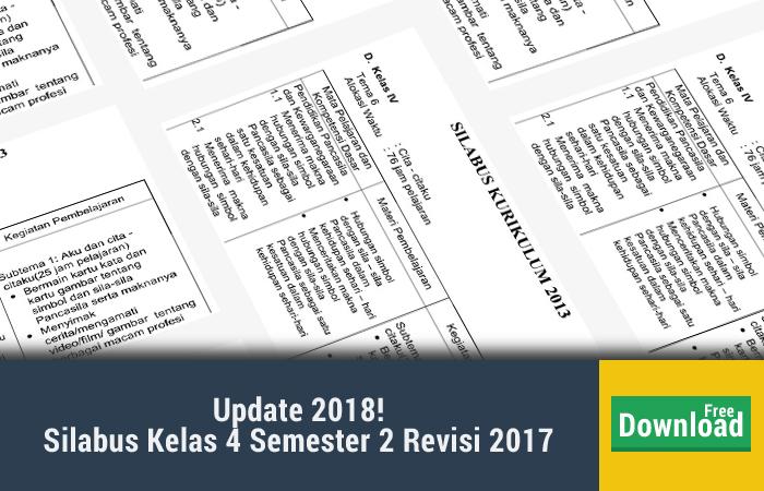 Silabus Kelas 4 Semester 2 Revisi 2017
