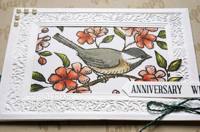 Heart's Delight Cards, Free As A Bird, Bird Ballad, SRC - Free As A Bird, Stamp Review Crew, Stitched Nested Labels Dies, Anniversary, Stampin' Up!, 2019-2020 Annual Catalog