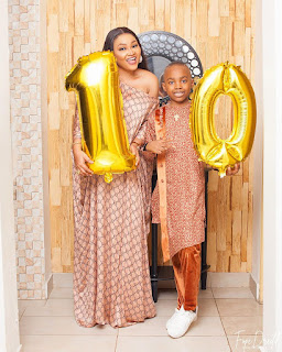 Mercy Aigbe and son, Juwon at 10