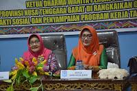 Ketua DWP Provinsi NTB Beserta Rombongan Kunjungan Kerja di Kota Bima