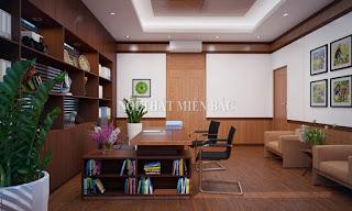 Thiết kế nội thất văn phòng giám đốc nhỏ tiện lợi - H1