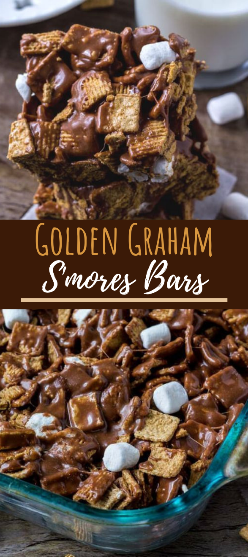 Golden Grahams S'mores Bars #bars #desserts