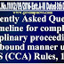 FAQs on the time limit for disposal of disciplinary cases - DoPT OM dated 8.12.2017