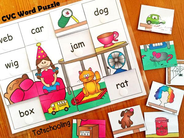 CVC word puzzle