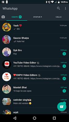 Whatsapp dark