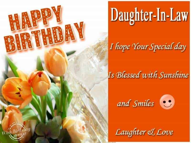 18 Inspiration Images of Special Birthday Wishes for Daughter in – Happy Birthday Daughter in Law Cards