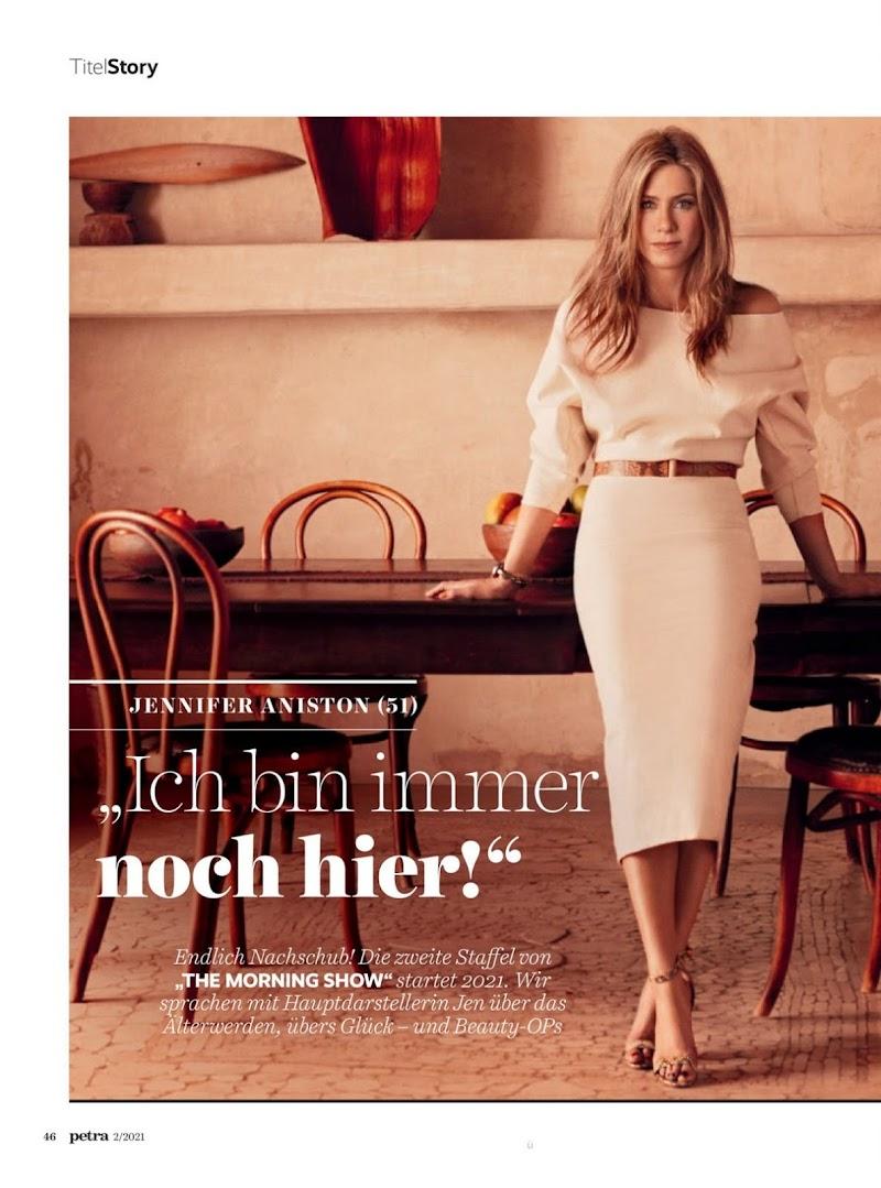 Jennifer Aniston Featured in Petra Magazine-  January/February 2021