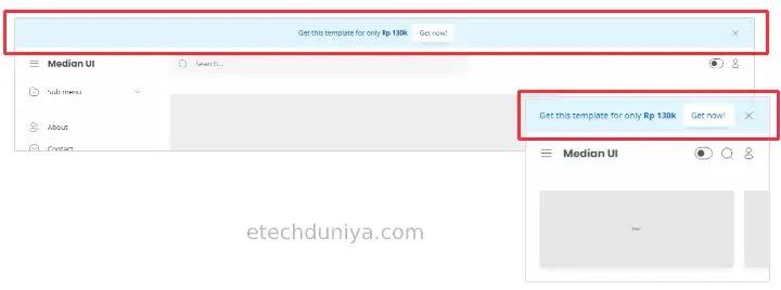 Median UI notification header