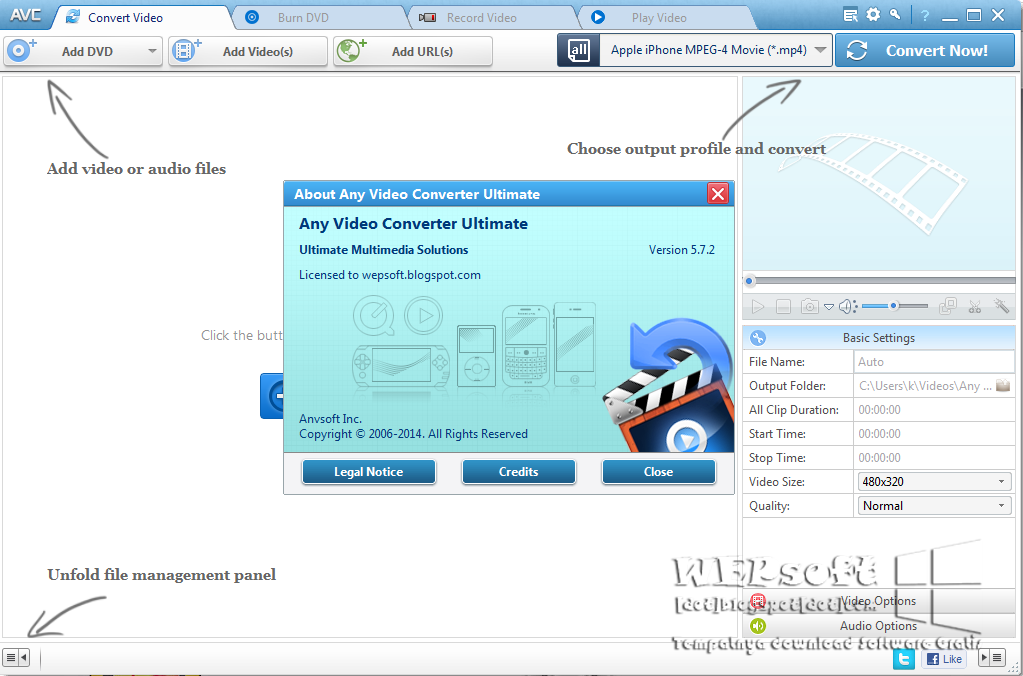 Any Video Converter Ultimate 5.7.2 | WEPsoft