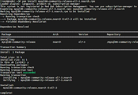 MySQL Installation on Linux 7 step by step tutorial