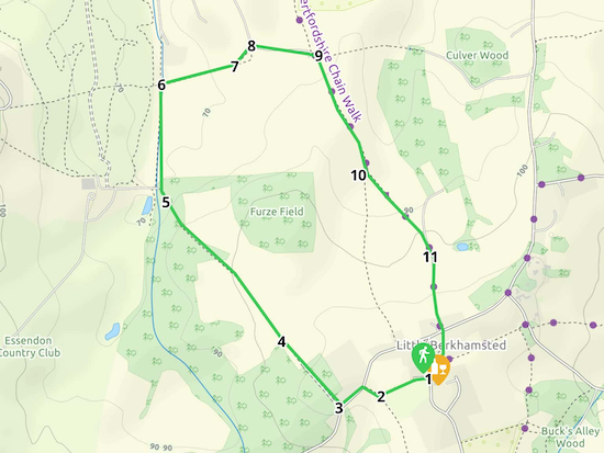 Map for Walk 7: The Little Berkhamsted Loop Created on Map Hub by Hertfordshire Walker Elements © Thunderforest © OpenStreetMap contributors An interactive map with KML and GPX data is embedded at foot of page
