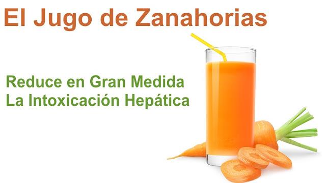 Reduce en gran medida la intoxicación hepática con el Jugo de Zanahorias