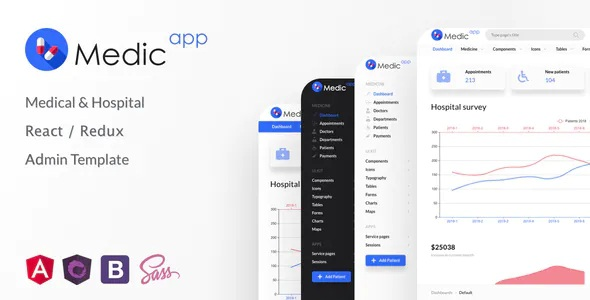 Best Medical & Hospital React/Redux Admin Template