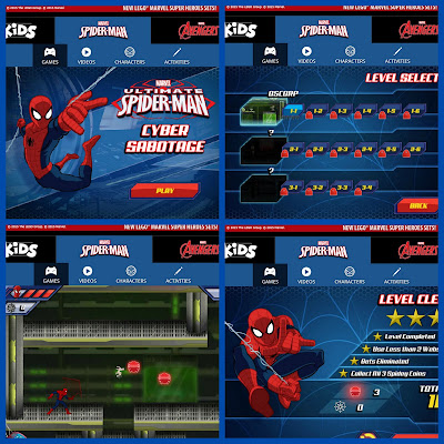 Children's Spiderman Cyber Sabotage game online