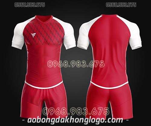 Áo bóng đá ko logo TA Spe màu đỏ