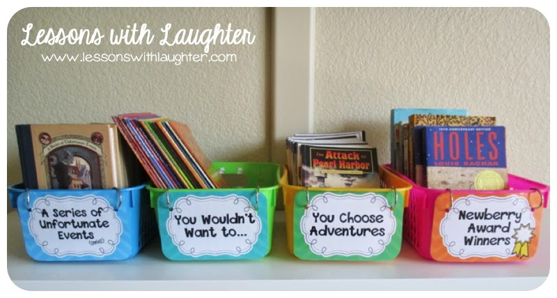 Classroom Library Individual Book Labels! - Lessons With