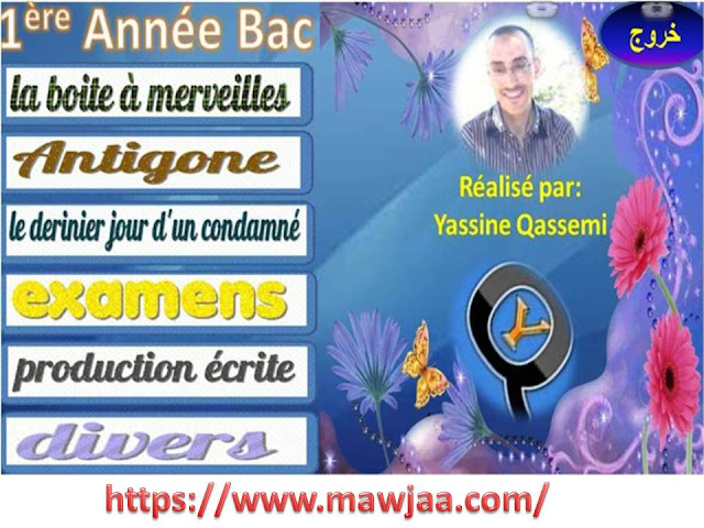 أسطوانة كل ما تحتاجه في  اللغة الفرنسية أولى باك لاجتياز الامتحان الجهوي